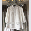 High-end New Hollow Embroidered Shirt Women Tops Camisas Femininas 2017 Spring Sweet White Loose Cotton Shirt Blusas 8897105