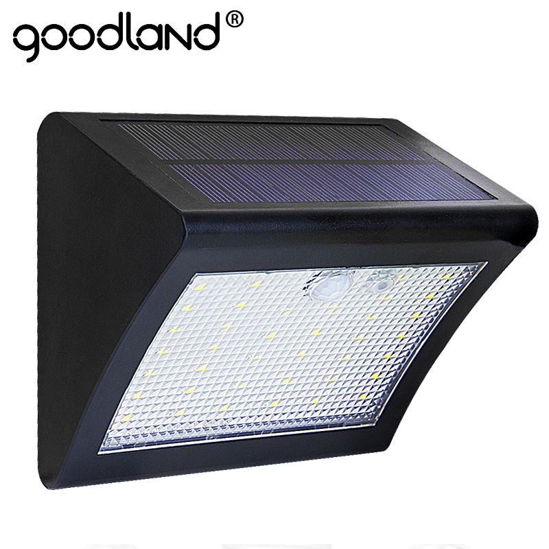 Goodland LED Solar Light Outdoor Solar lamp Waterproof Solar Panel PIR Motion Sensor 3 Modes Auto Sensing For Garden Patio