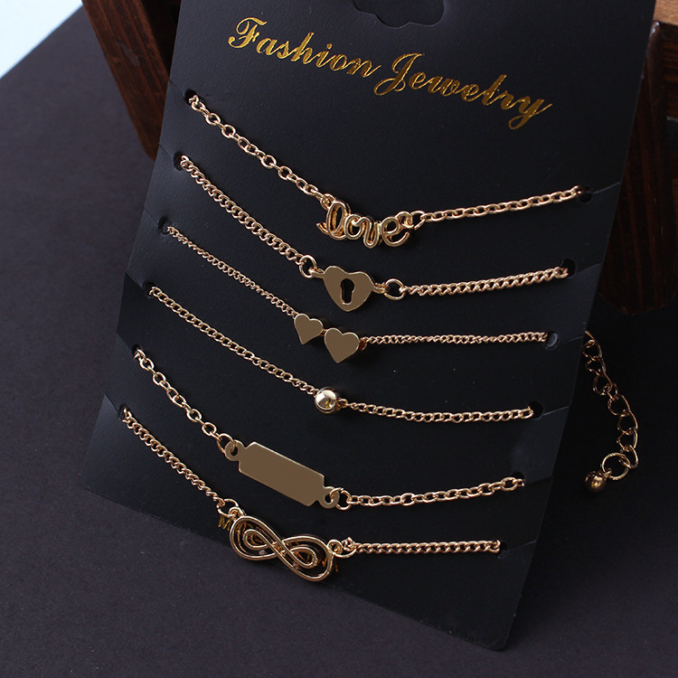 New bracelet set European and American style fashionable temperament love 6 women wholesale