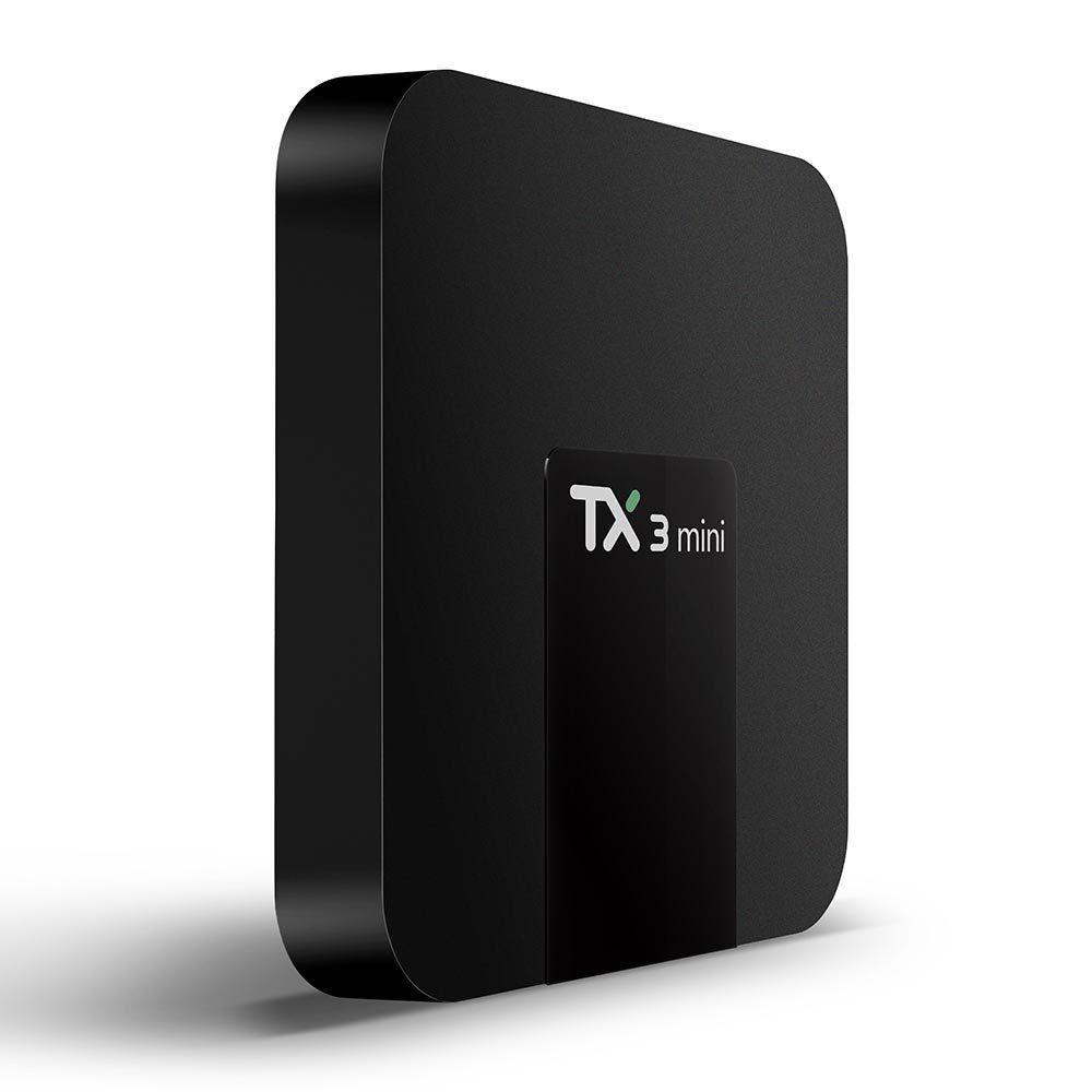 TX3 Mini Amlogic S905W Quad Core Top Set 2GB 16GB 4K HD WiFi Android 7.1 TV Box
