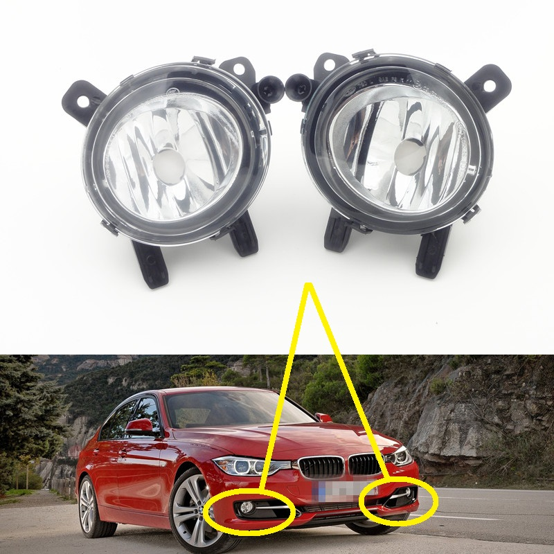 2Pcs/Pair Replacement Clear lens Front bumper fog lights driving lamps for BMW 3 Series F35 2012-2014 штопор apollo noi 05