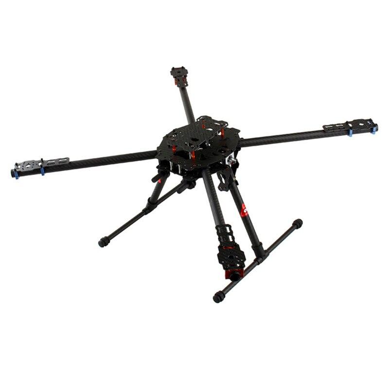 Tarot FY650 3 K fibre de carbone pure entièrement pliante Hexacopter 650mm FPV cadre d'avion TL65B01 pour la photographie aérienne