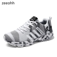 zeeohh 2019 Unisex spring autumn mesh Camouflage Casual men Shoes Breathable Comfortable sneakers tenis masculino adulto