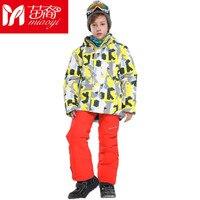 Новый высокое качество спортивный стиль Куртки катания на лыжах и Брюки для девочек сноуборд устанавливает толстые теплые Водонепроницаем
