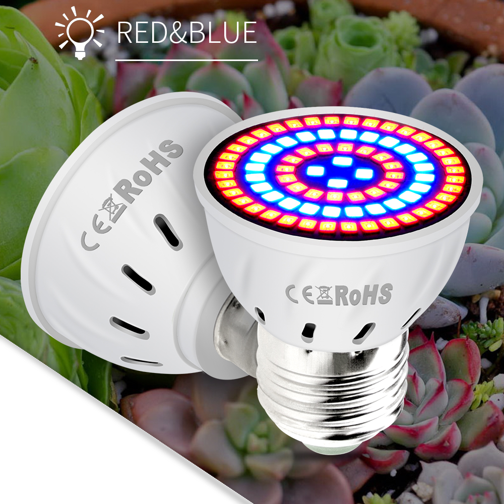 LED E27 Full Spectrum LED Lights Bulb For Plant Growth Lamp E14 Indoor Seedling GU10 220V Grow Light MR16 Greenhouse Hydroponics