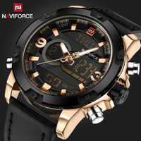Zegarki mężczyźni marka NAVIFORCE mężczyźni Sport zegarki męskie kwarcowy zegar mężczyzna na co dzień wojskowy wodoodporny zegarek na rękę relogio masculino