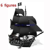 16006 Pirates Of The Caribbean Series The Black Pearl Building Block Figures Model Bricks Assemble Compatible
