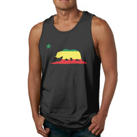 California Republic Red Yellow Green Men S T Shirt Clothing FilesT Shirts Graphic Printed Tank Top