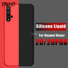 Case on The for Huawei Honor 20 Pro Silicone Liquid Original Soft TPU Hawei Honor20 Honer 20Pro 2 0 Honor20 Phone Cases Cover(China)