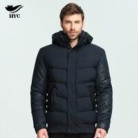 HAI YU CHENG Winter Parka Men Camouflage Pattern Jacket Coat Male Sleeves Patchwork Cotton Padded Hood