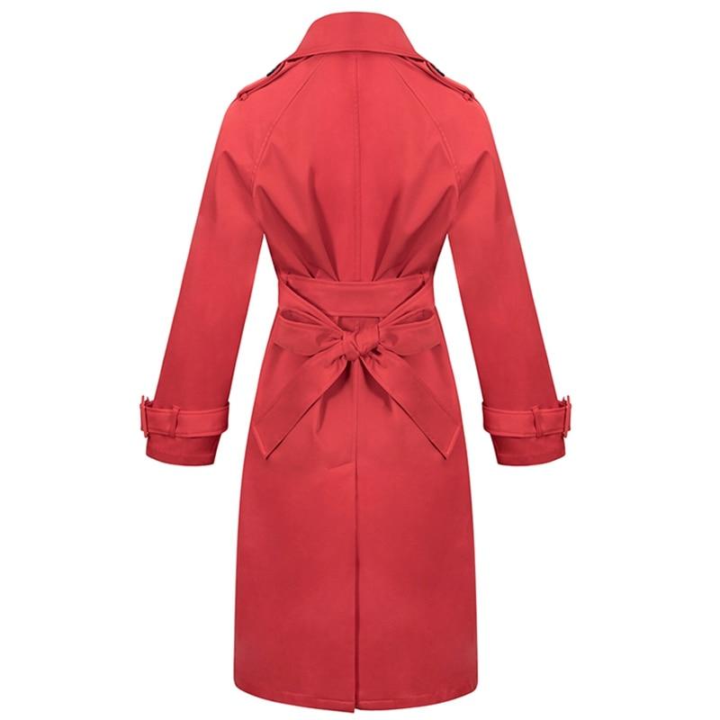 Bouton Large Manteau À Mode Longue 2018 Décontracté Femmes Tranchée Taille Streetwear Le Complet Rouge Manches Bas Et Tournent Vers Indressme La Liquidation clK1FTJ3