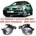 Для Renault CLIO 3/III (BR0/1, CR0/1) Хэтчбек 2005-2015 Стайлинга Автомобилей Передний Бампер Галогенные Противотуманные фары Высокая ПРОТИВОТУМАННЫЕ ФАРЫ 8200002470