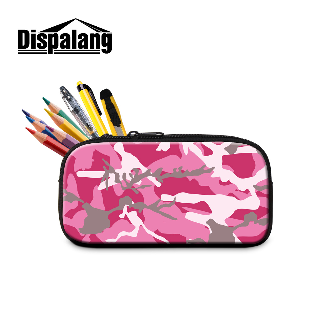 b80382ff57 Dispalang student cool camouflage pencil case bags kids stationery office  school supplies children storage bag girls makeup bags