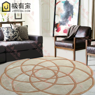 Us 17 82 10 Off 100 Acrylic Round Carpet Trend Personality Living Room Sofa Bed Bedroom Fashion Custom Rug Fitting Room Mat Customizable In Carpet