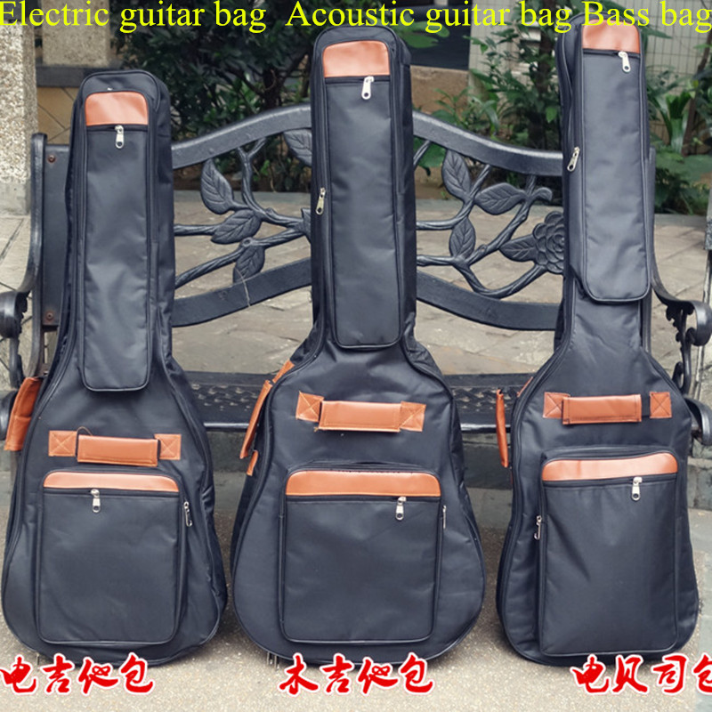 Portable music 40 41acoustic electric bass guitar gig bag case funda PU backpack soft holder pocket straps padded waterproof ...