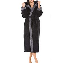 Women Night gown Women s Winter HoodedLengthened Long Sleeved Plush Shawl  Solid Bathrobe Slee fashion woman Night d31b35019