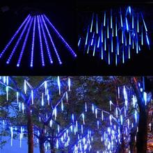8 Tubes LED Meteor Shower Rain string light 50cm 30cm Icicle Snowfall raindrop Xmas  decoration +AC110-240V Power adapter