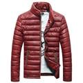 2016 novo pena acolchoado gola juventude casaco masculino jaqueta casual jaqueta de inverno dos homens de Slim Coreano maré homens jaqueta de inverno