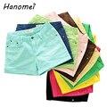 Spring autumn summer 2017 new solid color roll up hem jeans shorts feminino elastic plus size hot denim shorts for women