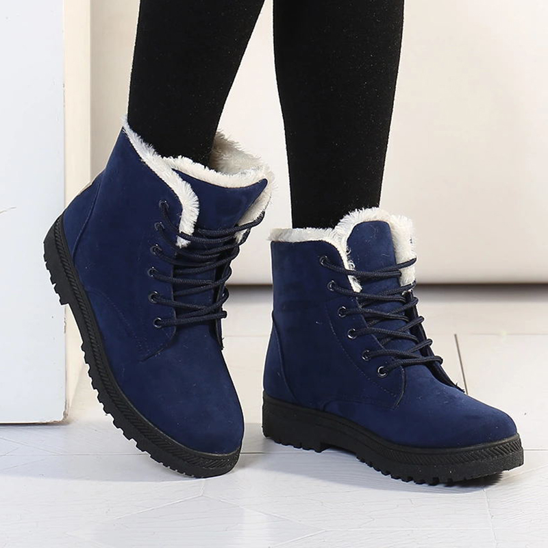 2018 Brand Snow boots classic heels suede women winter boots warm fur Insole ankle boots women shoes hot lace-up shoes woman 2018 women snow white boots woman winter boots women fashion ankle boots warm fur women s shoes brand shoes zyw 996 2