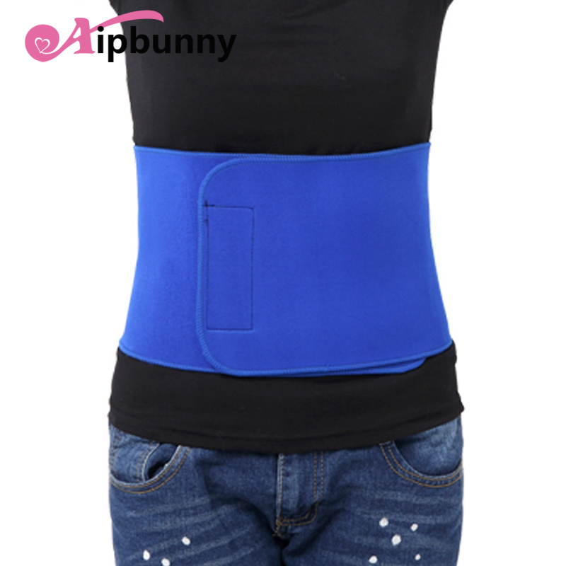 Aipbunny Soft Men Women Sports Waist Support Fitness Lumbar Brace Yoga Back Warmer Exercise Slimming Waist Trainer Protection