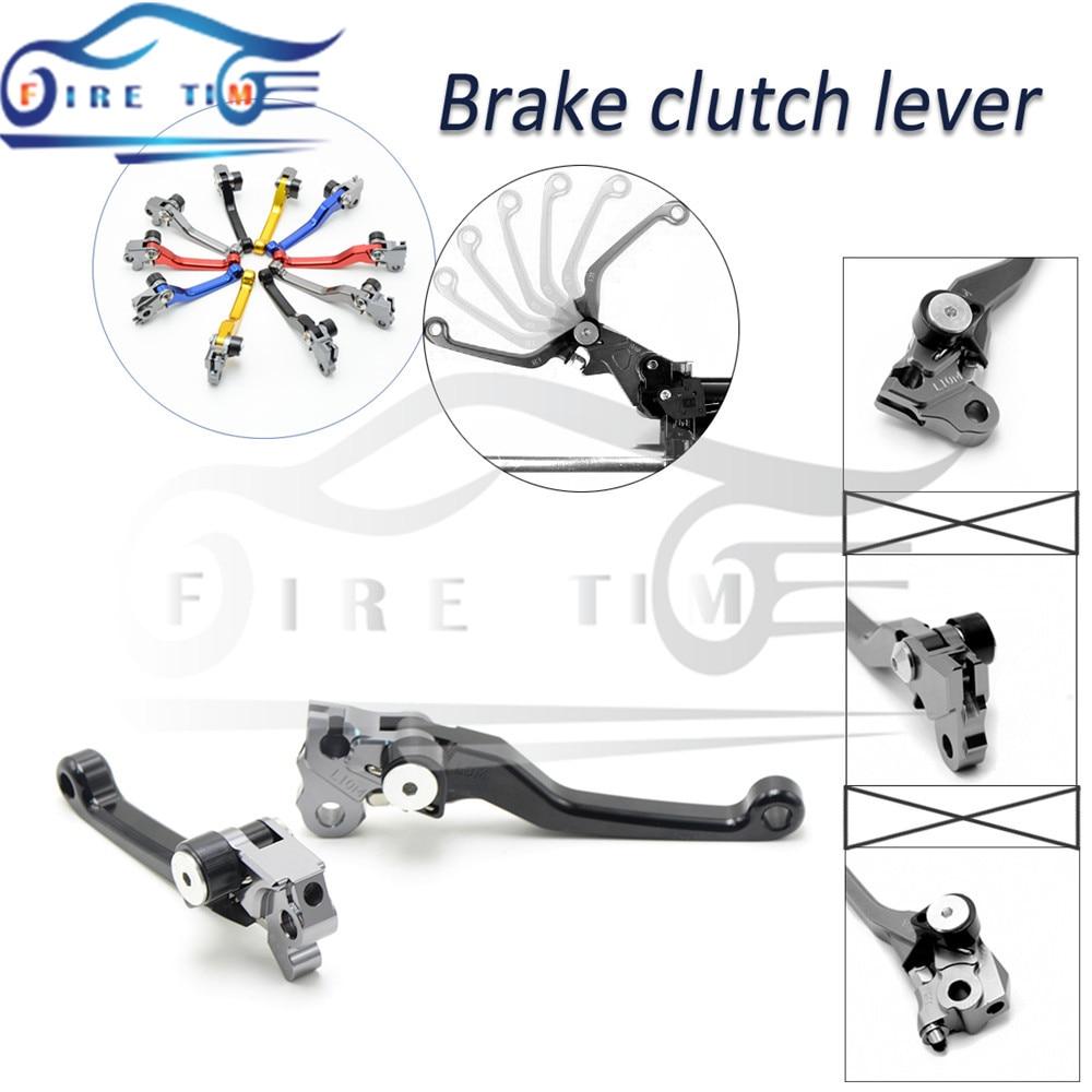 ФОТО dirt bike cnc folding brake clutch lever black brake clutch levers For SUZUKI RM 125/250 04 05 06 2007 2008 2009 2010 2011 2012