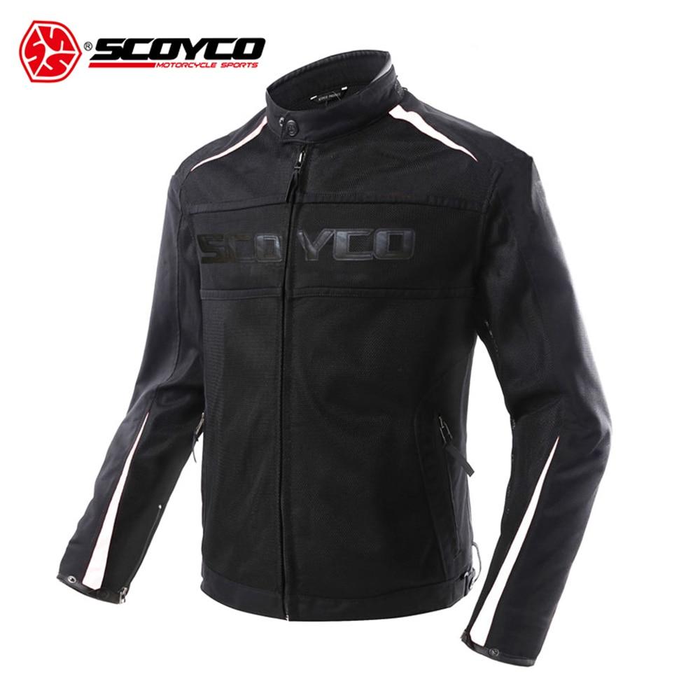 Veste de moto SCOYCO été respirante imperméable Protection contre les chutes veste de Motocross costume de course Jaqueta Motoqueiro