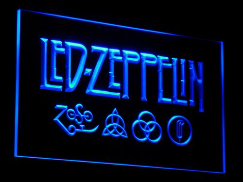 c002 Led Zeppelin Rock n Roll Punk LED Neon Sign with On/Off Switch 20+ Colors 5 Sizes to choose