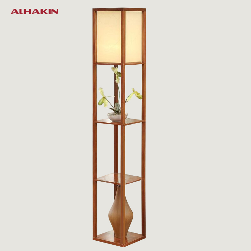 New chinese style floor lamp lamparas de pie vertical for Living lighting floor lamps