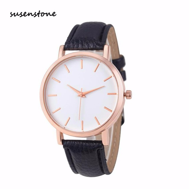 Susenstone 2018 Fashion Women Watch Luxury Brand Women Casual Wrist Watch Ladies Quartz Watch Relogio Feminino bayan kol saati
