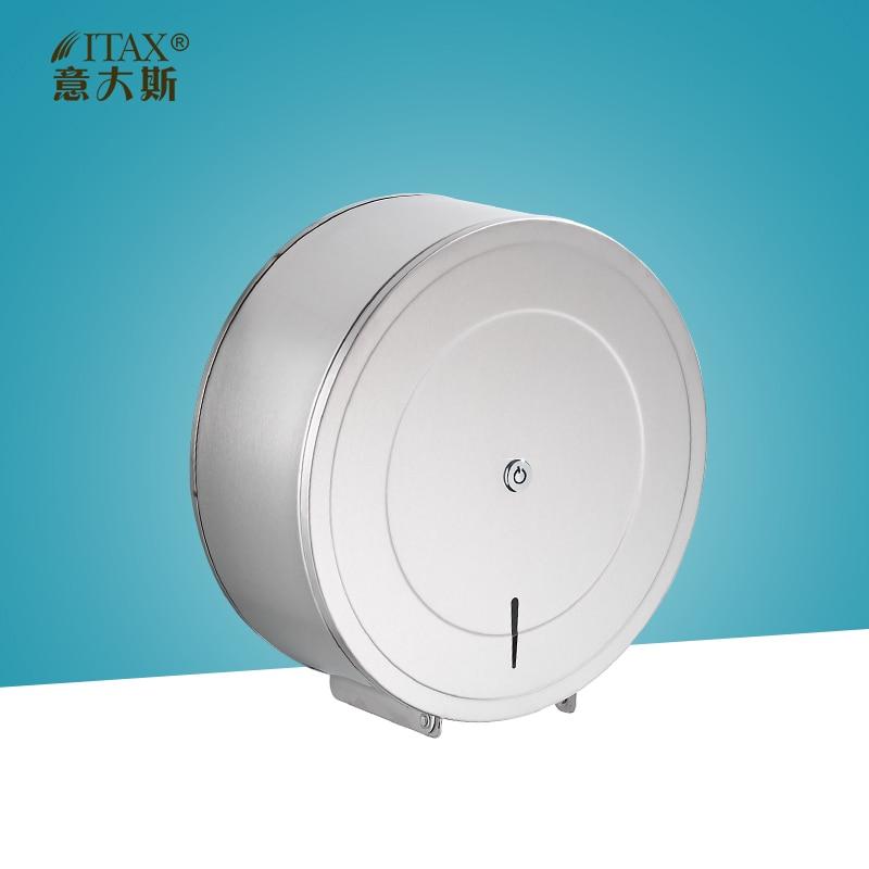 ITAS3390 manual holder hand paper towel dispenser box push rack core bathroom accessory equipment sanitary tissue