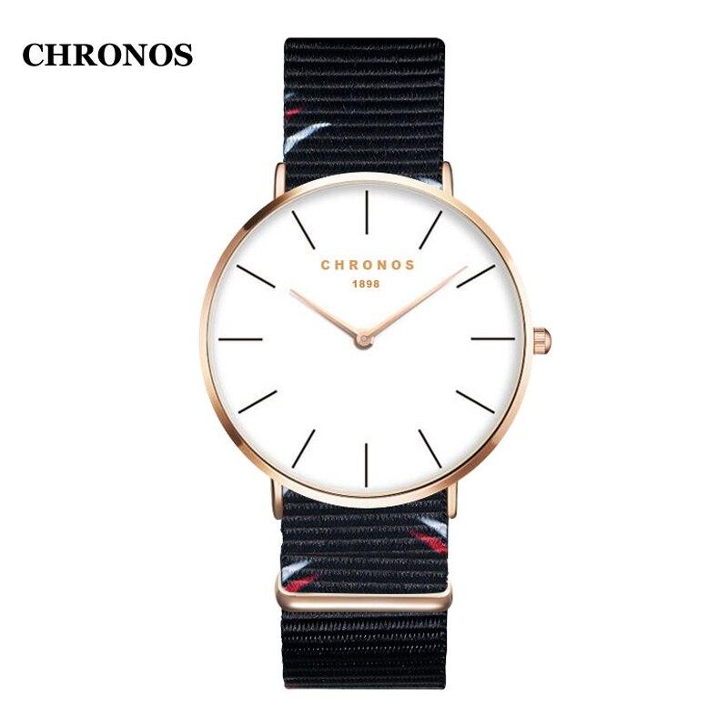 93dbe2adb6c Comprar Moda Quartzo Relógio de Pulso Estilo Simples Relógios Homens Nylon  Strap As Mulheres Se Vestem Relógios Relógio Feminino Baratas Online Preço