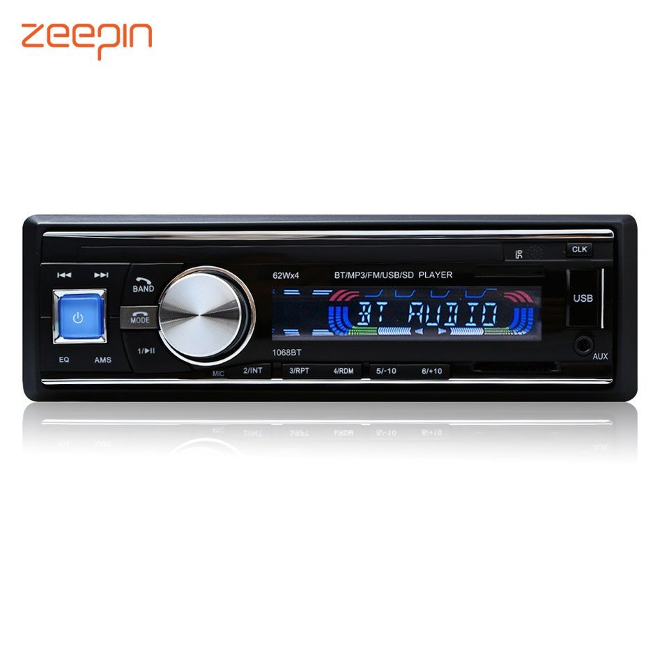 100% Original Car Radio Stereo Player Bluetooth Phone AUX-IN MP3 FM/USB/1 Din/Remote Control Iphone 12V Car Audio Car Electronic все цены