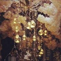 220V Creative led string lights flashing colorful bulbs curtain light wedding fairy light for romantic wedding background layout