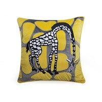 Home Decorative Sofa Throw Pillows Pillow model room Simple deerskin hug pillowcase cushion cover Sofa hug pillowcase