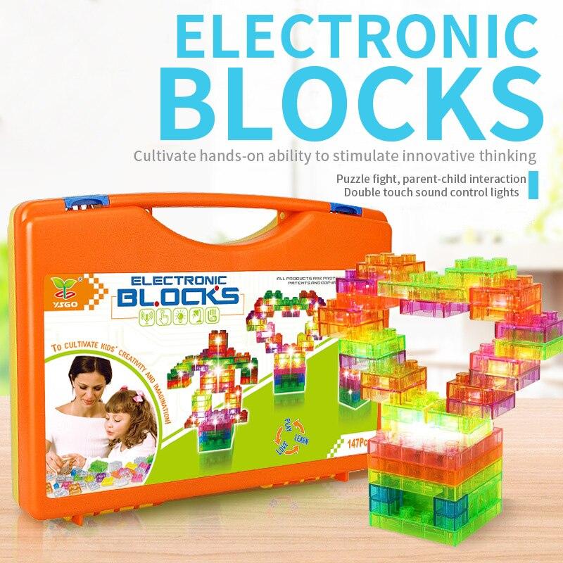 Oyuncaklar ve Hobi Ürünleri'ten Bloklar'de Elektronik oluşturucu yapı blok tasarımcı kitleri çocuklar için, keşfedin elektronik bilim projesi devre kiti eğitim bloğu'da  Grup 1