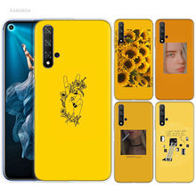 Yellow Aesthetic Art Case for Huawei Honor 8X 8C 8 9 10 20 Play 8A lite Pro V20 Y9 Y7 Y6 Y5 Prime 2018 2019 TPU Phone Bags Casos(China)
