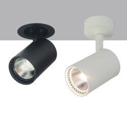 Super Bright 30W biała powłoka/czarna powłoka montowane na powierzchni światło COB W dół wpuszczany sufitowy COB lampa AC85-265V