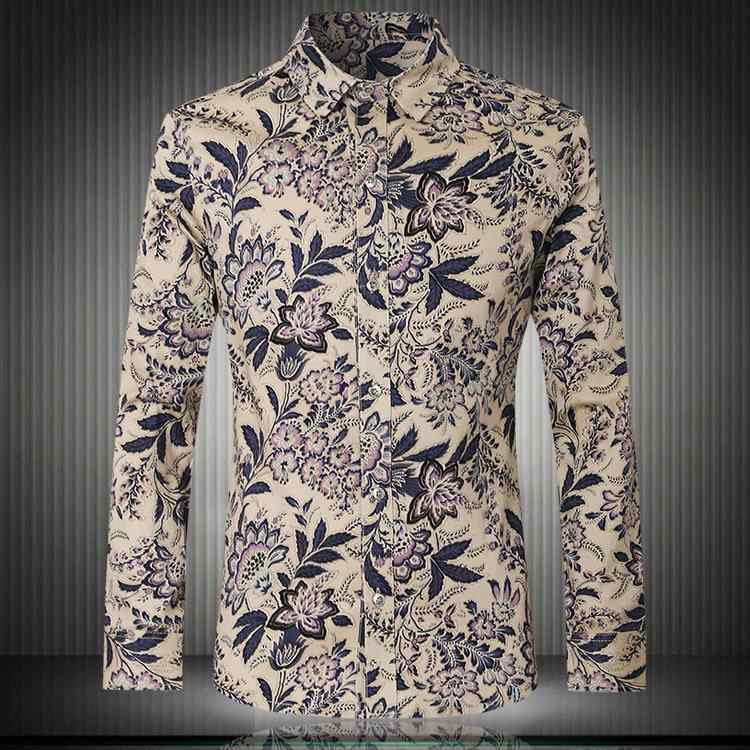 dd452d82ac7 Aliexpress.com   Buy 2016 spring England Style retro exquisite flower  printed shirts men casual slim fit Floral printed shirts for men size M 5XL  from ...