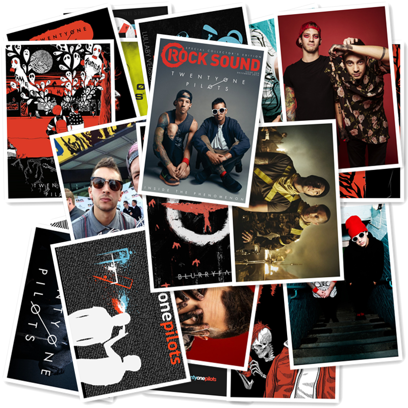 Twenty One Pilots Classic Series sticker 20/pcs PVC Art Crafts collection Gift wall Design sticker Graffiti