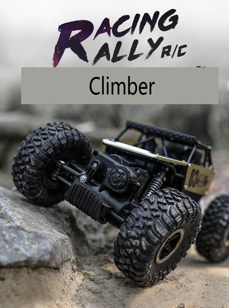 Children's remote control car, wireless steering wheel, four wheel drive, drift big foot Jeep off-road racing toy off road handlebar steering wheel