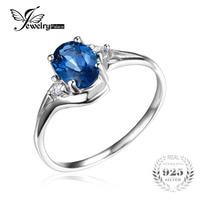JewelryPalace Hot Top Qualität Frauen Modische Großhandel Förderung Hochzeit Geschenk London Blauer Topas Ring 925 Sterling Silber