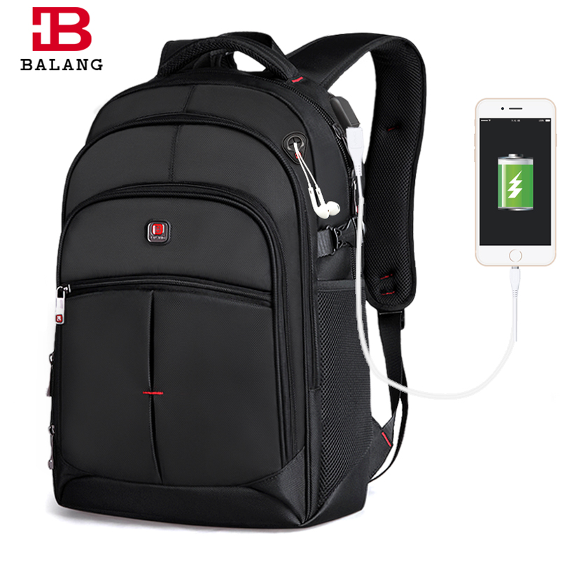 BALANG Business Laptop Men Backpack Notebook Unisex Trendy Backpack Fashion School Bags for Teenagers Boys Girls