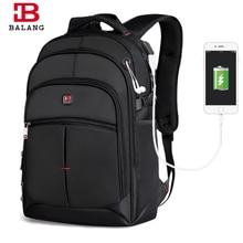 Balang business laptop männer rucksack notebook unisex trendy mode rucksack schultaschen für jugendliche jungen mädchen reisetaschen