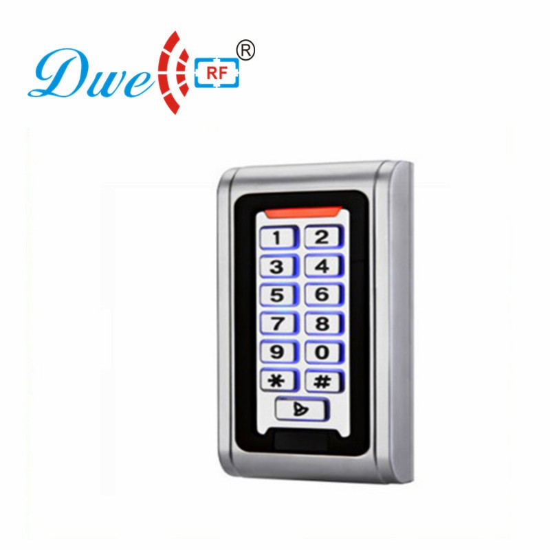 DWE CC RF Access Control Kits Metal Rfid Access Controller Keypad Waterproof 125khz Door Electronic Lock D008-C2 lpsecurity 125khz id em or 13 56mhz rfid metal door lock access controller with digital backlit keypad ip65 waterproof