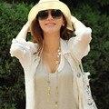 Летом женские SBeach фетровой шляпе соломы широкими полями пляж крышка шляпа солнца