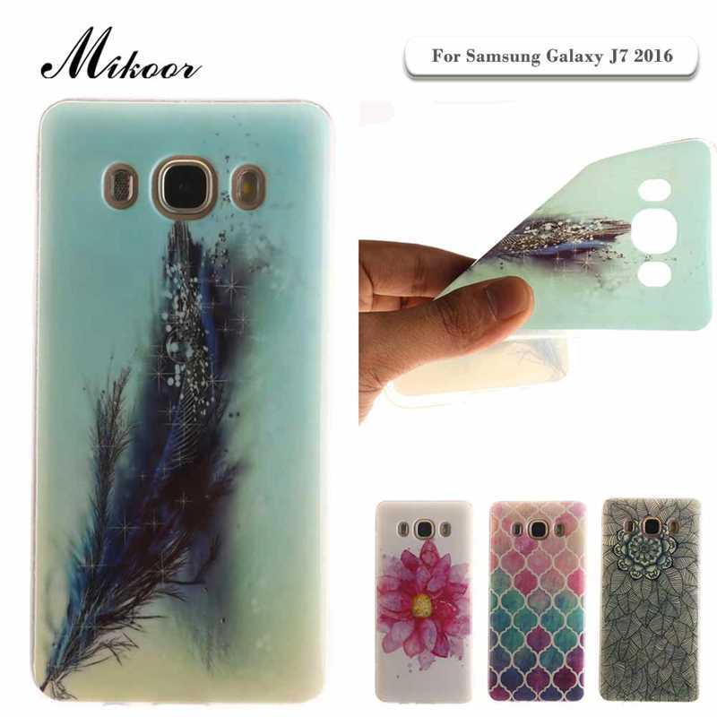 Mikoor Fashion Painted TPU Silicone Soft 5.5For Samsung Galaxy J7 2016 Case For Samsung Galaxy J7 2016 Cell Phone Case Cover