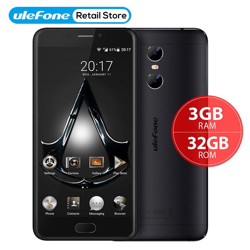 Оригинал Ulefone Близнецы двойной задней камерами MT6737T 4 ядра Android 6,0 5,5 дюйма 3 ГБ Оперативная память 32 ГБ Встроенная память спереди Touch ID OTG Мобил...
