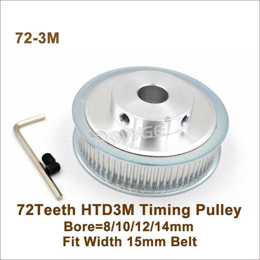 HTD 3M Pulley 24 Teeth 15mm Width Synchronous Wheel Gear Pinion UK 8mm Bore