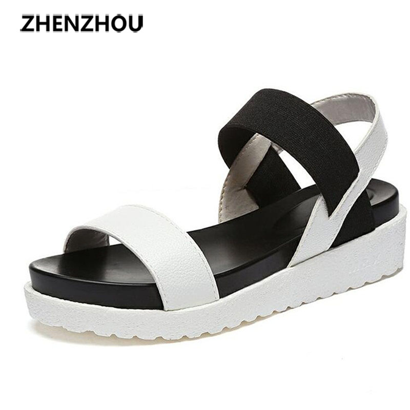 NEW Hot Selling sandals women Summer shoes woman 2016 peep toe flat Shoes Roman sandals Women